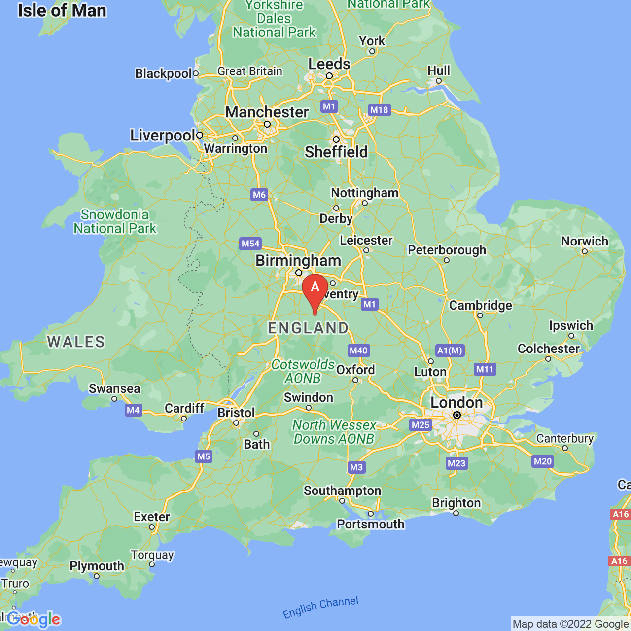 Stratford-upon-Avon, England Map
