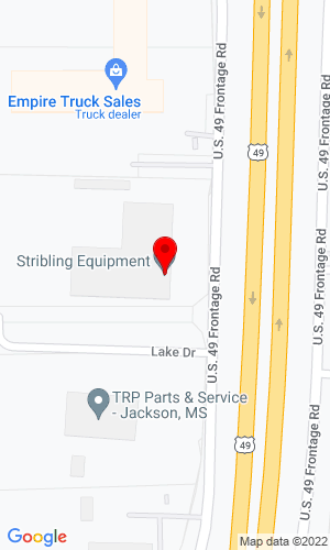 Google Map of Stribling Equipment, LLC 408 U.S. Highway 49 South, Jackson, MS, 39218,