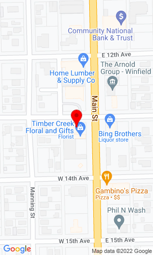 Google Map of Strong & Bradley 1122 East Park Street, Livingston, MT, 59047