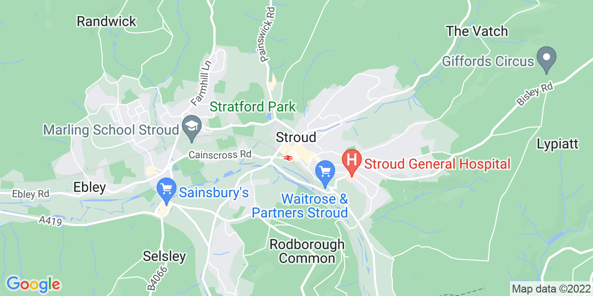 Map: Young Adult Support Worker role in Stroud