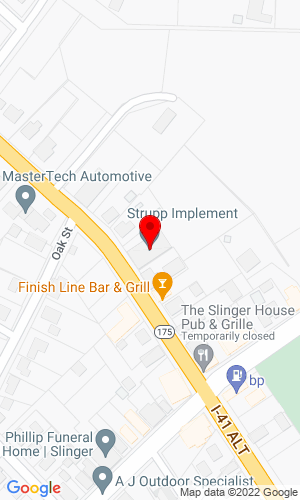 Google Map of Strupp Implement 118 W Washington Street, Slinger, WI, 53086
