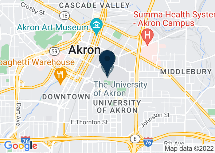 Map of Student Union, Ballrooms A and B, Akron, OH, United States
