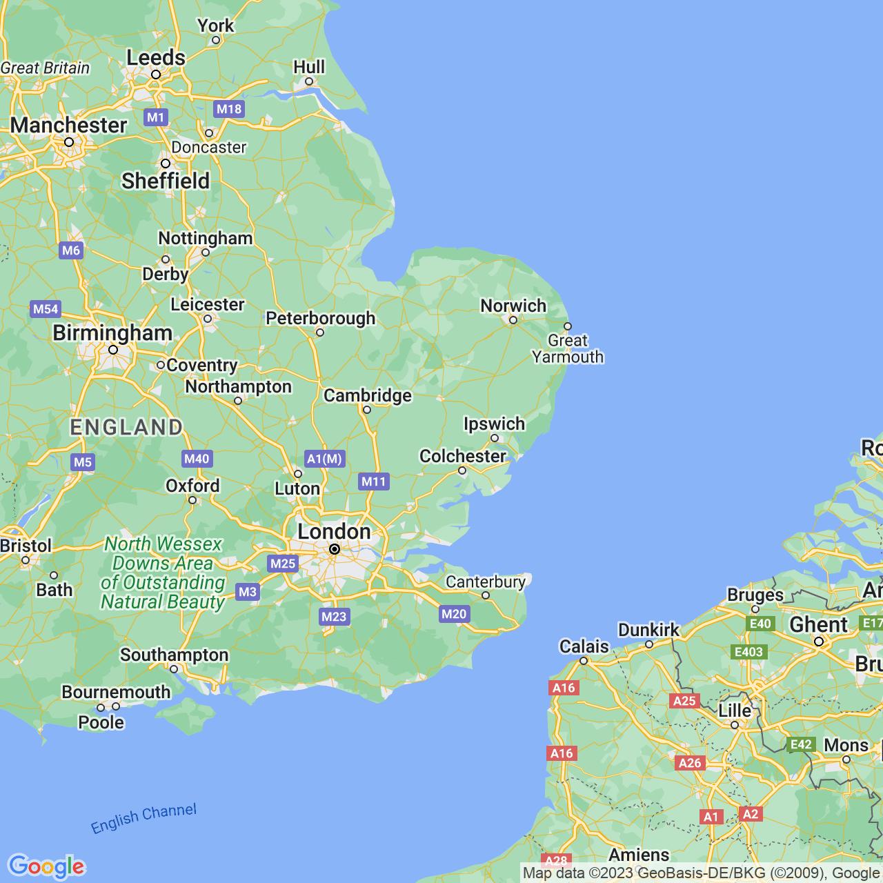 Sudbury, England Map