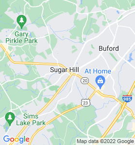 Sugarhill GA Map