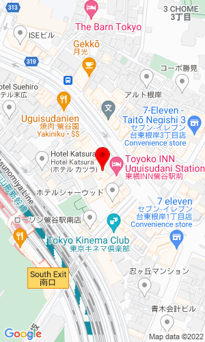 Google Map of Hitachi Construction Machinery Japan Co., Ltd. Sumitomo Fudosan Ueno Bldg. 7F, Tokyo, Tokyo, 110-0015