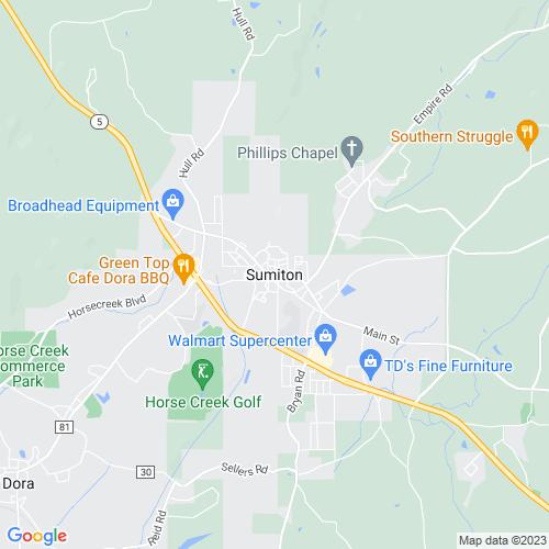 Map of Sumiton, AL