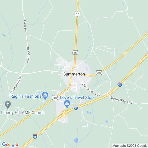 Map of Summerton, SC