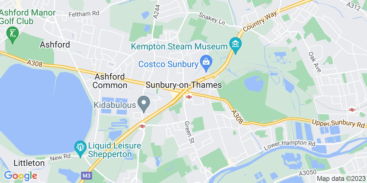 Map: B2B Marketing Specialist role in Sunbury-on-Thames