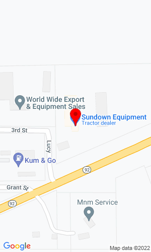 Google Map of Sundown Equipment Co. 202 Lucy Street, Bevington, IA, 50033