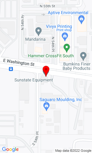 Google Map of Sunstate Equipment Co. 5425 E. Washington, Phoenix, AZ, 85034