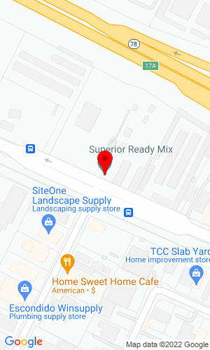Google Map of Superior Equipment 1508 W. Mission Road, Escondido, CA, 92029