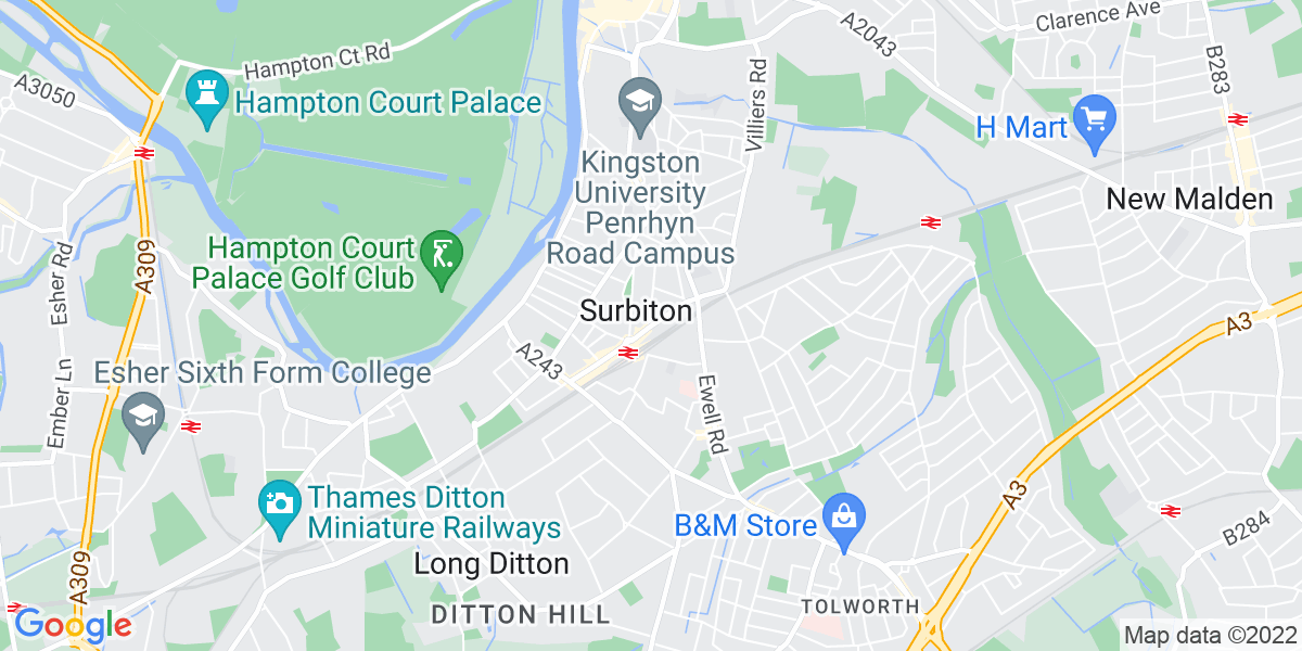 Map: Full Time Sales Advisor job role in Surbiton