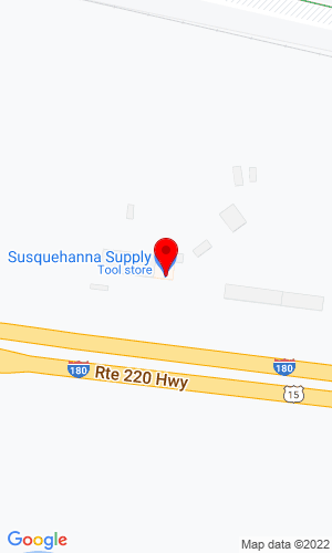 Google Map of Susquehanna Supply Company 2 Rose Street, Williamsport, PA, 17701