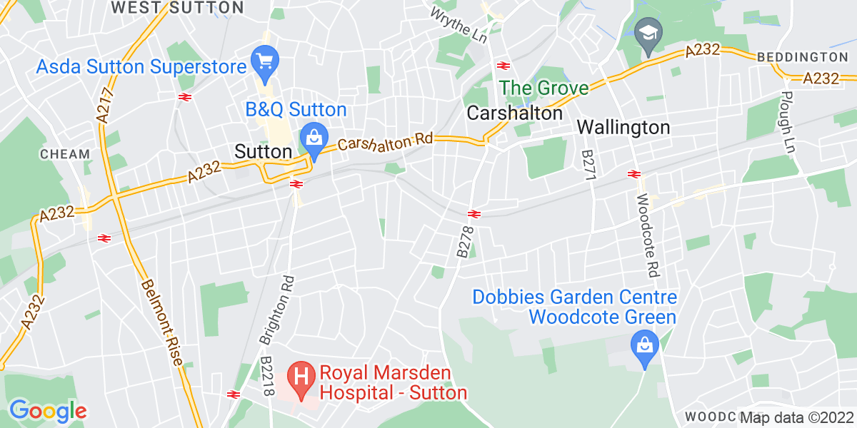 Map: 1:1 LSA Required job role in Sutton