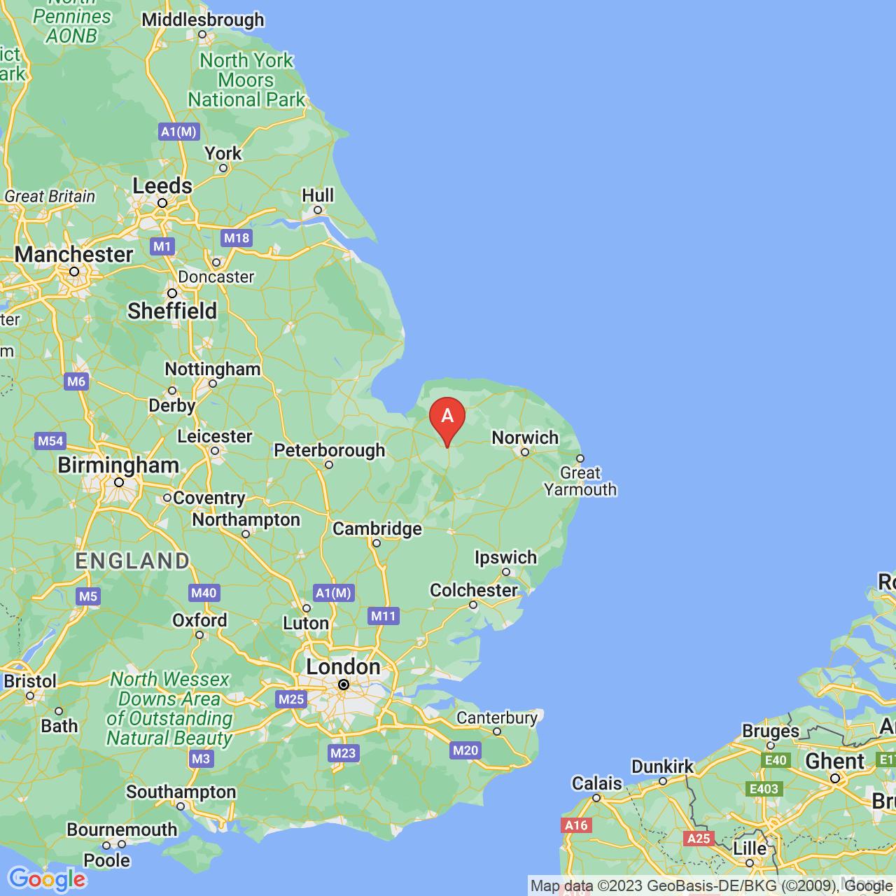 Swaffham, England Map
