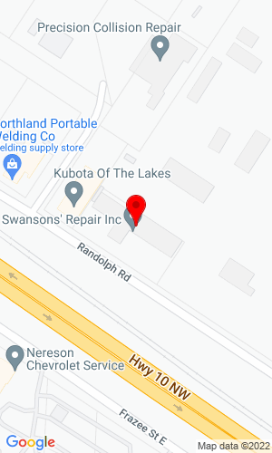 Google Map of Swanson's Repair, Inc 1220 Randolph Road, Detroit Lakes, MN, 56501