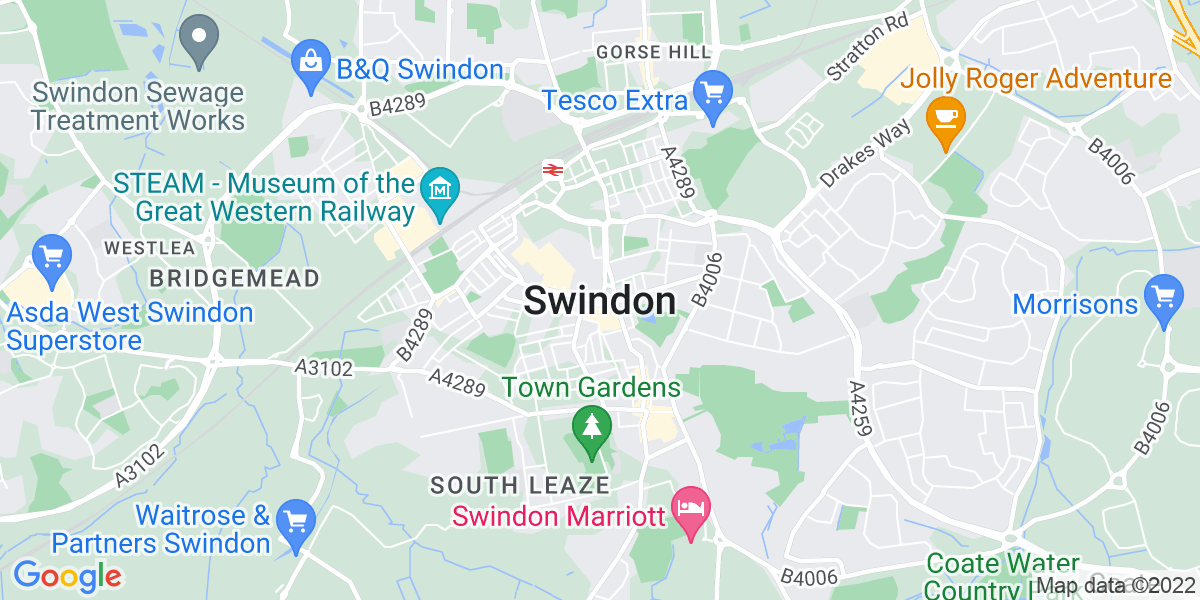 Map: Physiotherapy Assistant position in Swindon