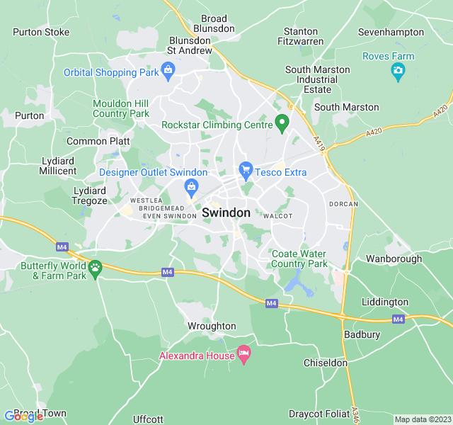 Website Designer Swindon Google map of location