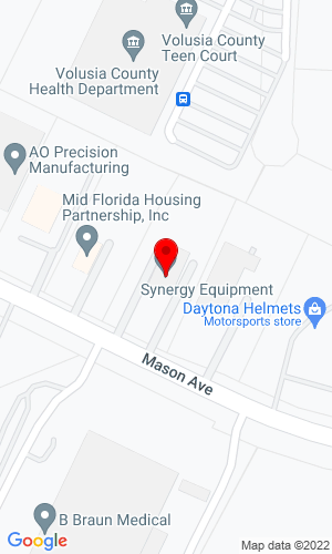 Google Map of Synergy Equipment 1830 Mason Avenue, Daytona Beach, FL, 32117