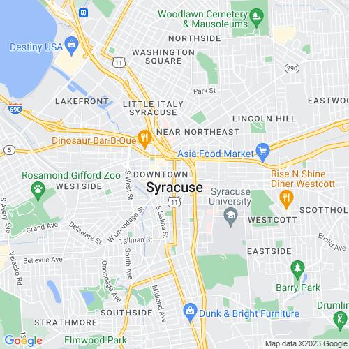 Map of Syracuse, NY