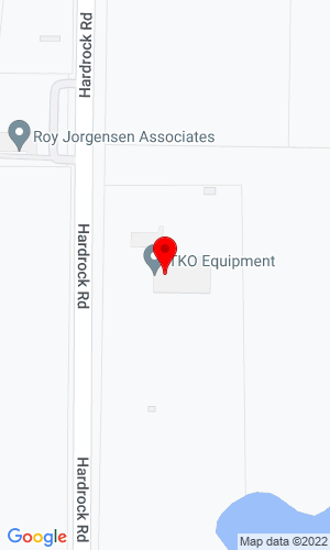 Google Map of T-K-O Equipment Co. 2850 Hardrock Road - HQ, Grand Prairie, TX, 75050