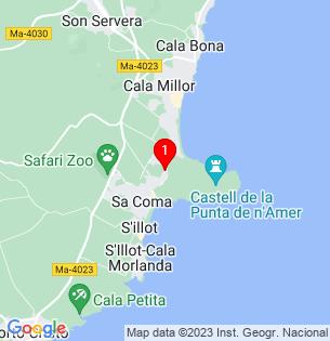 Google Map of TEIXOS, Sa Coma, BALEARES, Spain