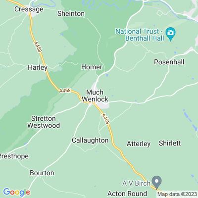 Wenlock Abbey Location