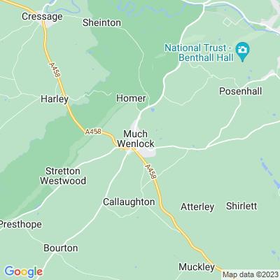 Wenlock Priory Location