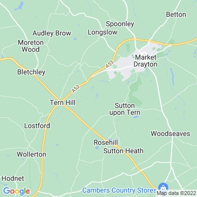 Buntingsdale Hall Location