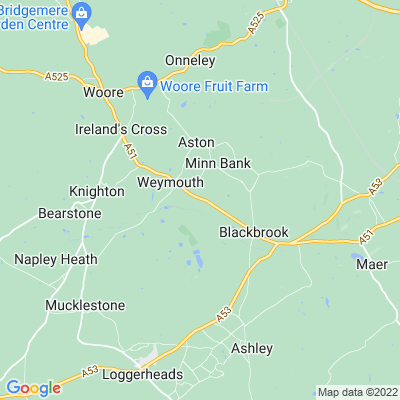 Dorothy Clive Garden, Willoughbridge Location