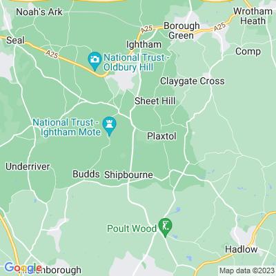 Fairlawne, Plaxtol Location