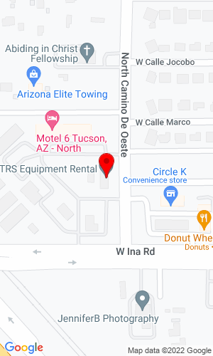 Google Map of TRS Equipment Sales & Rental 16600 N Oracle, Catalina, AZ, 85739