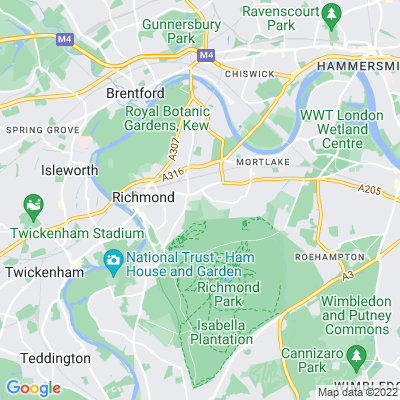 East Sheen Cemetery Location