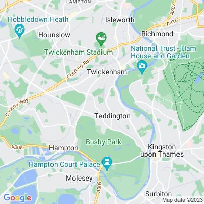 Teddington Cemetery Location