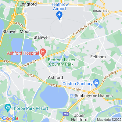 Bedfont Lakes Country Park Location