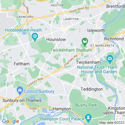 Twickenham Cemetery Location