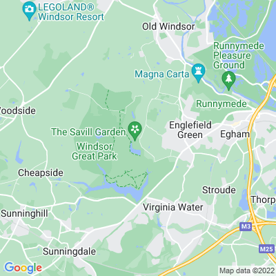 Royal Estate, Windsor, Savill Garden and Valley Gardens Location
