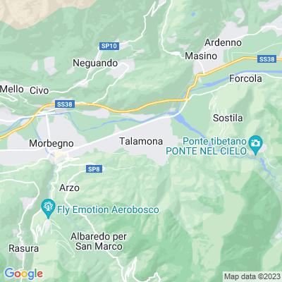cartina Talamona