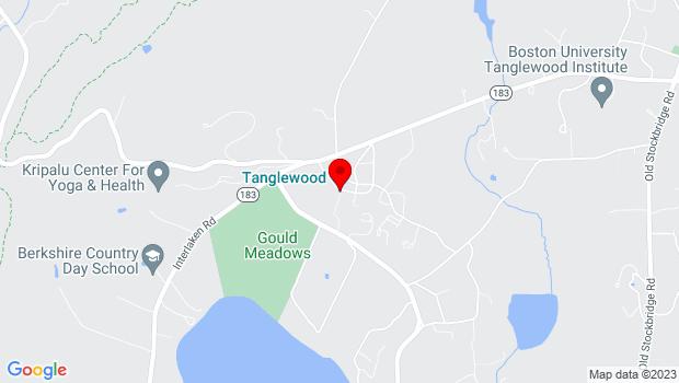 Google Map of Tanglewood: Linde Center Studio E, 297 West Street, Lenox, MA 01240