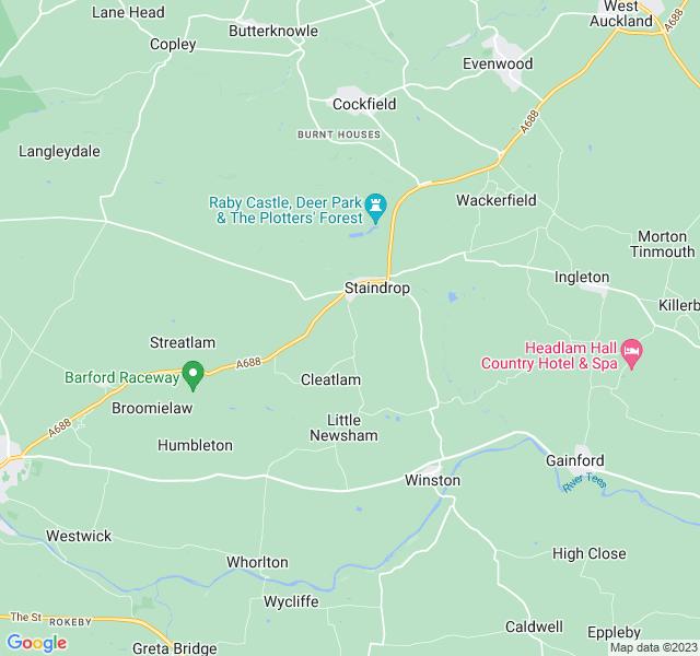 Website Designer Tees Google map of location