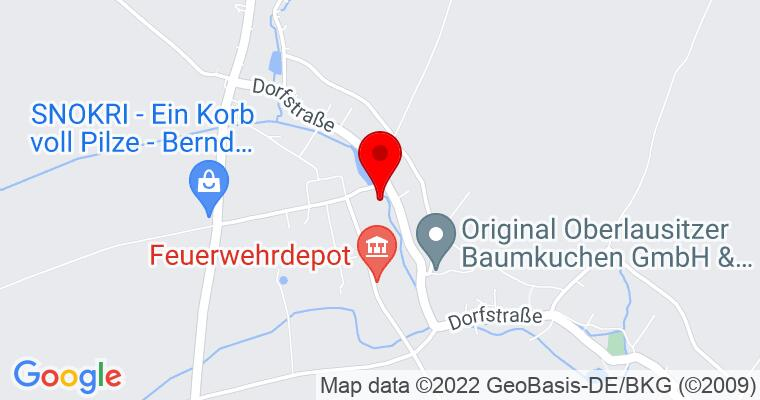 Google Map of Teichstraße 1a 02788 Zittau OT Schlegel