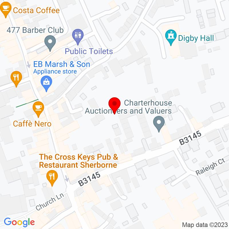 Google Map of Terraces, Sherborne