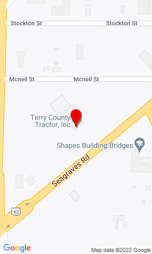 Google Map of Terry County Tractor, Inc. 105 Seagraves Highway , Brownfield, TX, 79316