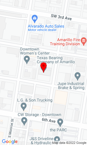 Google Map of Texas Bearing PO Box 1579, Amarillo, TX, 79105