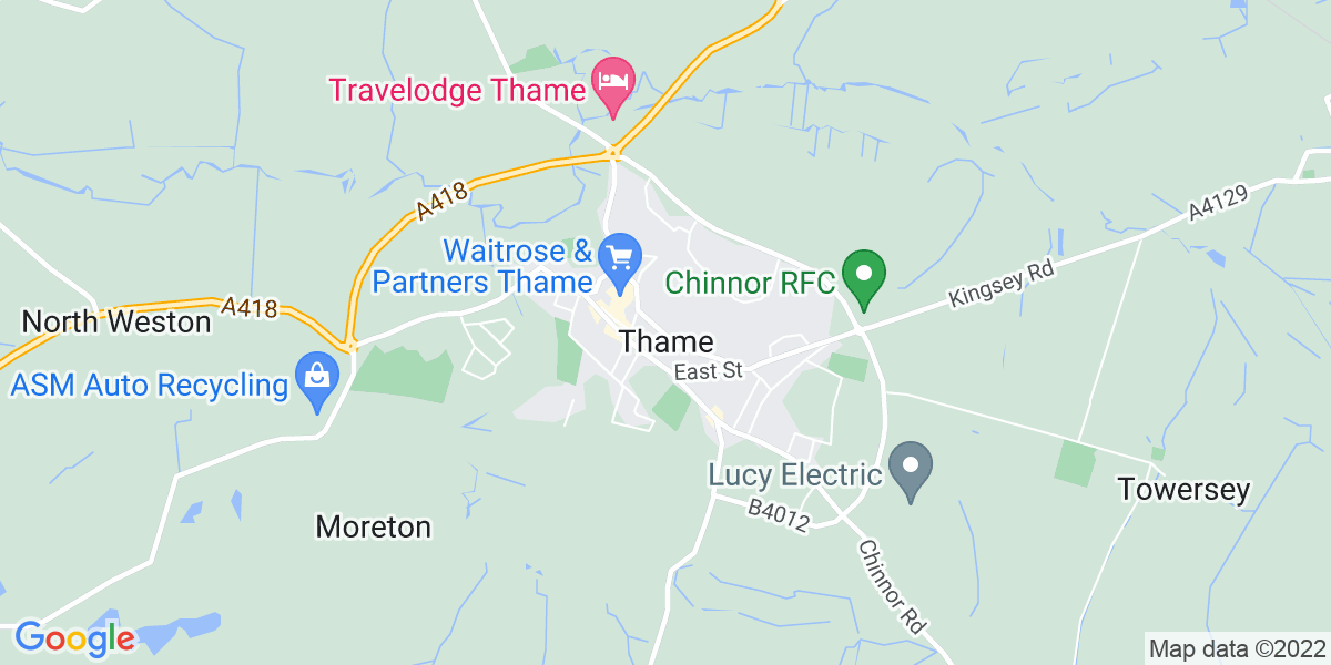 Map: Internal Recruiter job role in Thame