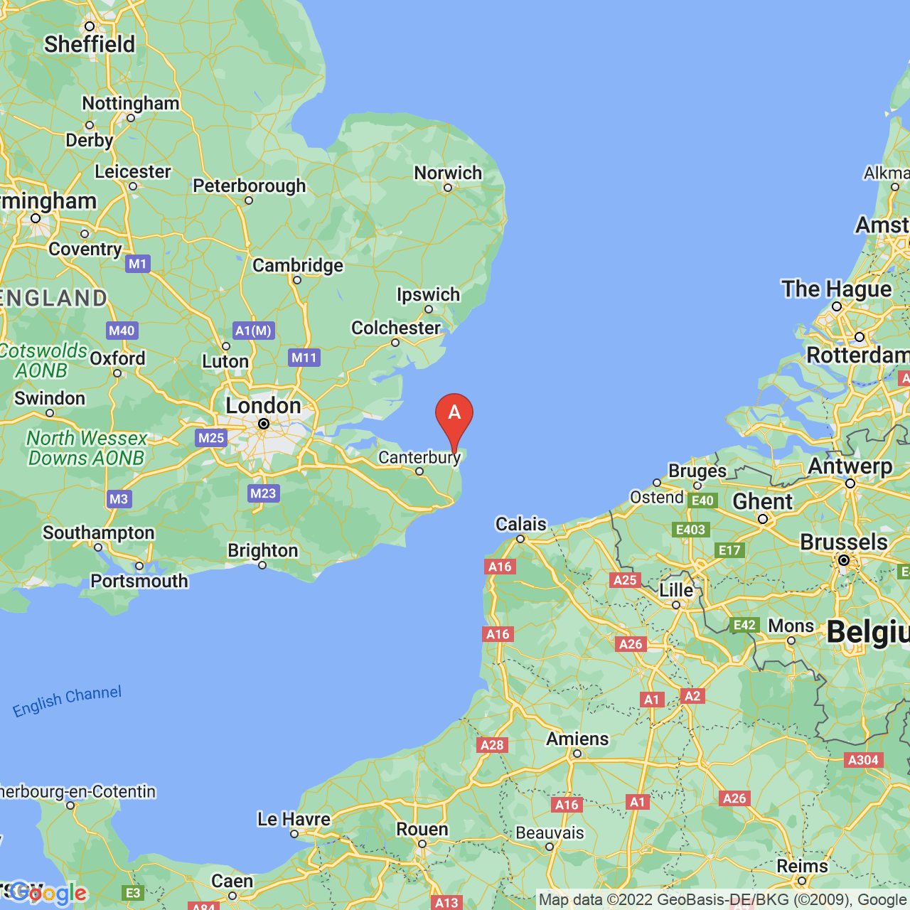 Thanet, England Map
