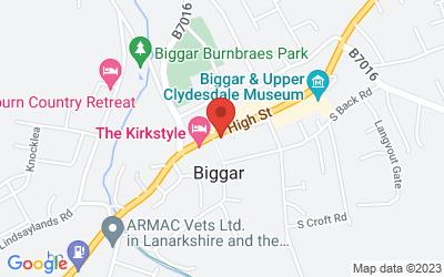 Map of The Biggar Gallery, 80 High Street, Biggar, UK