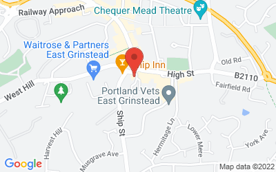 Map of The Cornmill, East Grinstead