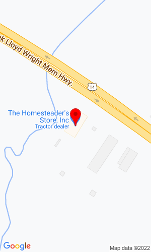 Google Map of The Homesteader's Store, Inc. 26245 Highway 14 East, Richland Center, WI, 53581