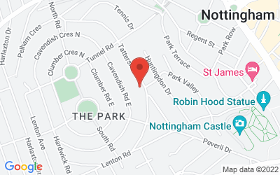 Map of Nottingham City Centre
